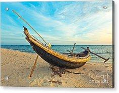 Fisherman Boat Acrylic Print by MotHaiBaPhoto Prints