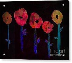 5 Flowers Acrylic Print