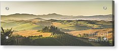 Golden Tuscany Acrylic Print by JR Photography