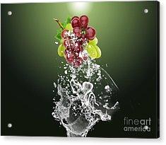 Grape Splash Acrylic Print by Marvin Blaine