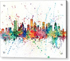 Houston Texas Skyline Acrylic Print