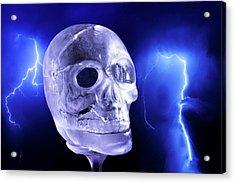 Ice Skull'pture Acrylic Print