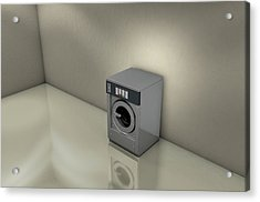 Industrial Washer In Empty Room Acrylic Print