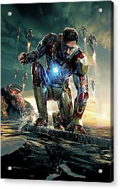 Iron Man 3 Acrylic Print by Unknown