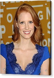 Jessica Chastain At Arrivals Acrylic Print by Everett