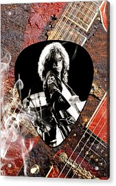 Jimmy Page Art Acrylic Print by Marvin Blaine