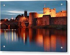King John's Castle Limerick Ireland Acrylic Print by Pierre Leclerc Photography
