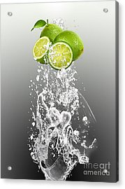 Lime Splash Acrylic Print