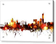 Manchester England Skyline Acrylic Print