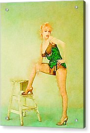 Marilyn Pinup By Frank Falcon Acrylic Print