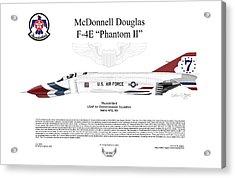 Mcdonnell Douglas F-4e Phantom II Thunderbird Acrylic Print by Arthur Eggers