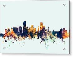 Miami Florida Skyline Acrylic Print