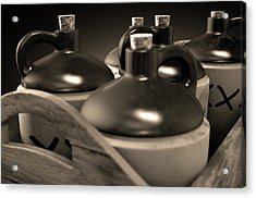 Moonshine In Wooden Crate Acrylic Print