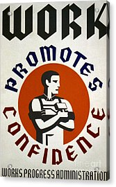 New Deal: Wpa Poster Acrylic Print by Granger
