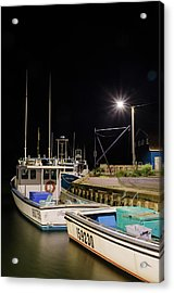 Acrylic Print featuring the photograph Nightime On The Wharf. by Rob Huntley