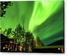 Northern Lights, Aurora Borealis At Kantishna Lodge In Denali National Park Acrylic Print
