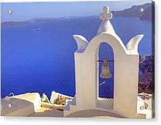 Oia - Santorini Acrylic Print by Joana Kruse