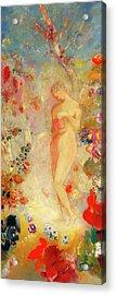Acrylic Print featuring the painting Pandora by Odilon Redon
