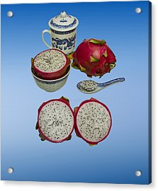 Acrylic Print featuring the photograph Pink Dragon Fruit  by David French