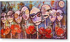 5 Poppies For The Dead Acrylic Print