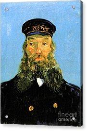 Portrait Of The Postman Joseph Roulin Acrylic Print by Vincent Van Gogh