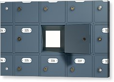 Post Office Boxes Acrylic Print by Allan Swart