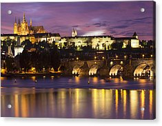 Prague Castle And Charles Bridge Acrylic Print by Andre Goncalves