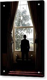President Barack Obama Looks Acrylic Print by Everett