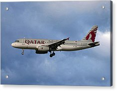 Qatar Airways Airbus A320-232 Acrylic Print