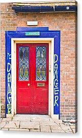 Red Door Acrylic Print by Tom Gowanlock