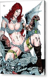 Red Sonja Acrylic Print by Bill Richards