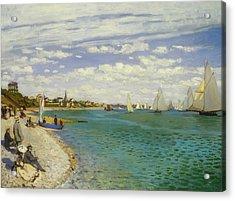 Regatta At Sainte-adresse Acrylic Print by Claude Monet