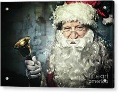 Santa Claus Portrait Acrylic Print by Gualtiero Boffi