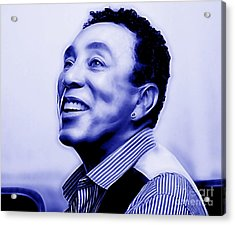 Smokey Robinson Collection Acrylic Print by Marvin Blaine