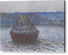 Stack Of Wheat Acrylic Print by Claude Monet
