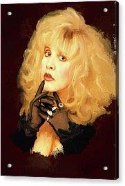 Stevie Nicks Acrylic Print by Brian Tones