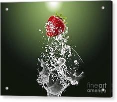 Strawberry Splash Acrylic Print by Marvin Blaine