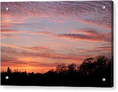 Sunset Acrylic Print by Mark Severn