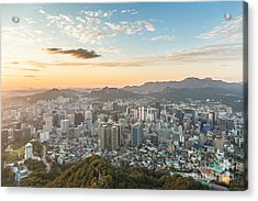Sunset Over Seoul Acrylic Print
