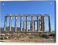 Temple Of Poseidon Acrylic Print by George Atsametakis