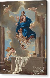 The Assumption Of The Virgin Acrylic Print by Nicolas Poussin