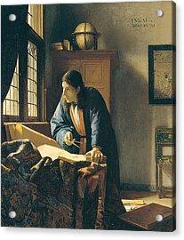 The Geographer Acrylic Print by Johannes Vermeer