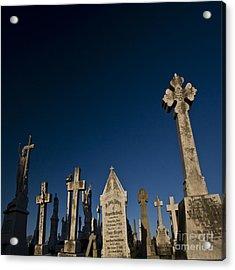 The Graveyard Acrylic Print by Angel Ciesniarska