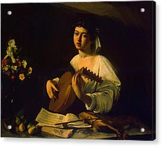 The Lute Player Acrylic Print by Caravaggio