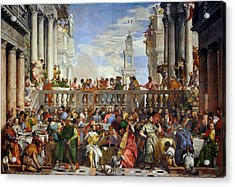 The Wedding At Cana Acrylic Print by Paolo Veronese