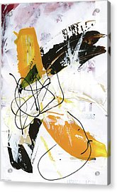 Three Color Palette Acrylic Print by Michal Mitak Mahgerefteh