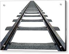 Train Tracks Isolated Acrylic Print