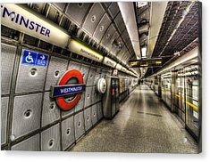 Underground London Acrylic Print by David Pyatt