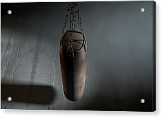 Vintage Leather Punching Bag Acrylic Print