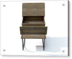 Vintage School Desk Open Empty Acrylic Print